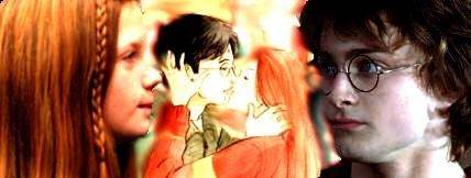 Harry y Ginny beso