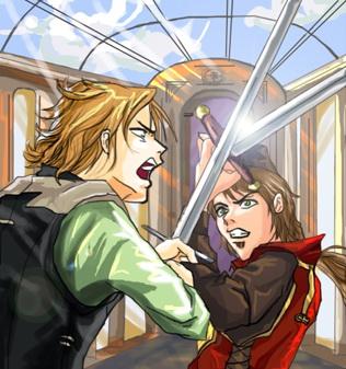 Batalla: Godric Gryffindor contra Salazar Slytherin