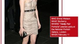 Emma Watson Seleccionada en Top 10 Vogue's Mejor Vestidas de la Semana