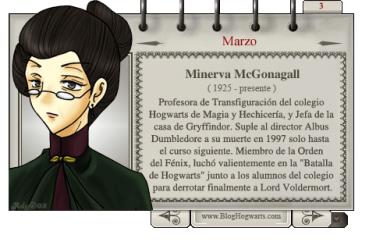 Minerva McGonagall – Mago del Mes Marzo