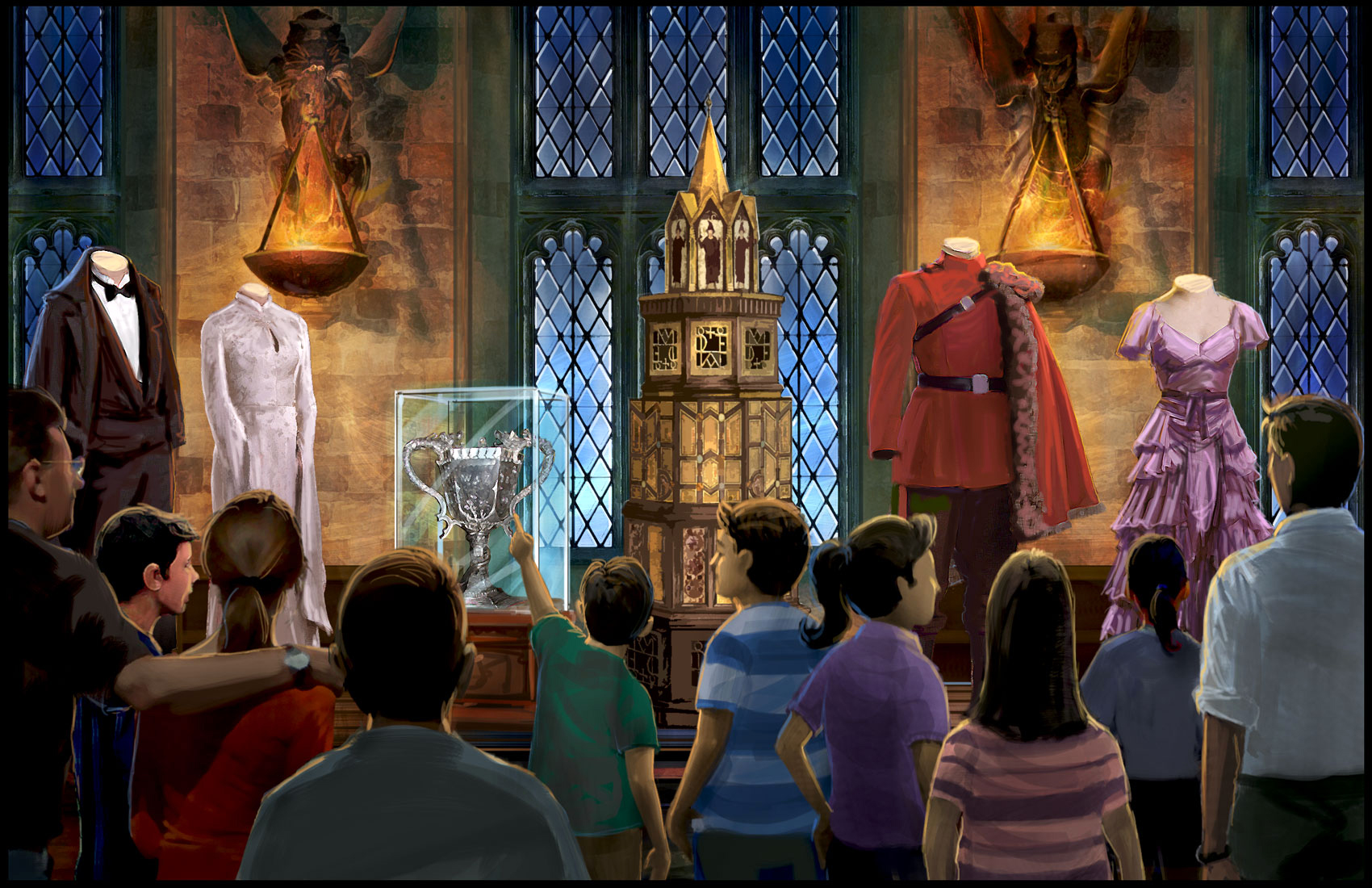 Gran comedor harry potter la exhibici n blog hogwarts for Comedor harry potter