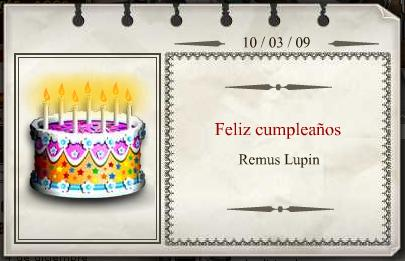 Feliz Cumpleaños Remus Lupin