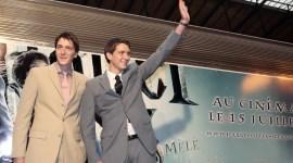 Tom Felton, Bonnie Wright y Gemelos Phelps Asisten a Eventos de Promoción de 'Harry Potter y el Misterio del Príncipe' en Francia