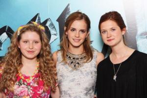 Jessie Cave, Emma Watson y Bonnie Wright