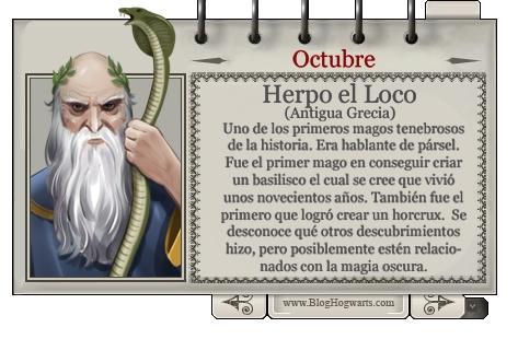Herpo el Loco - Mago del Mes Octubre