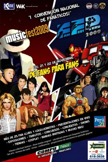 Primera Convención Nacional de Fanáticos: 'Fan Fest Perú 2009' y 'Music Fest 2009'