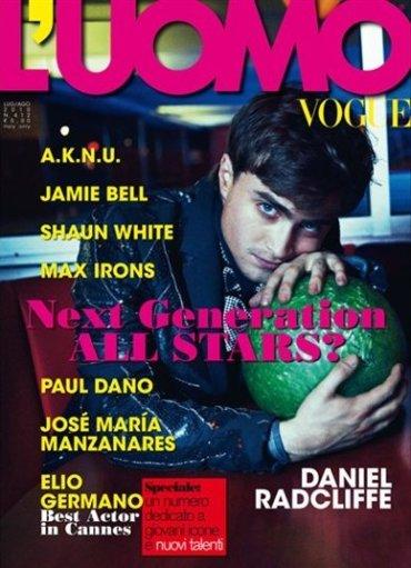 Daniel Radcliffe en la portada de L'Uomo Vogue Italia