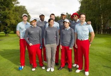 Rupert Grint y James y Oliver Phelps en el Evento de Golf de Caridad 'Shooting Stars Benefit 2010'