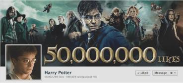 Harry Potter Consigue 50 Millones de Fans en Facebook