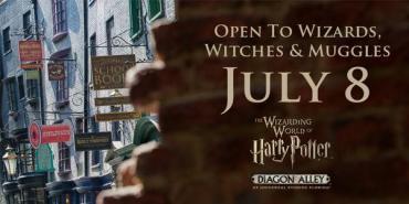 Confirmada Apertura del Callejón Diagon el Próximo 8 de Julio!
