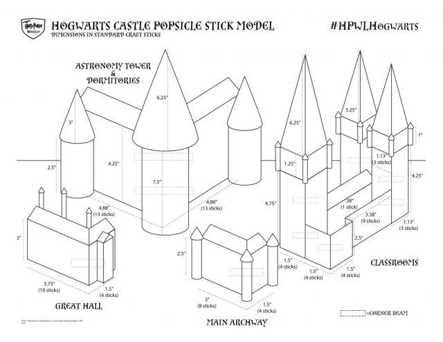 Harry Potter BlogHogwarts Castillo Palitos Helado (1)