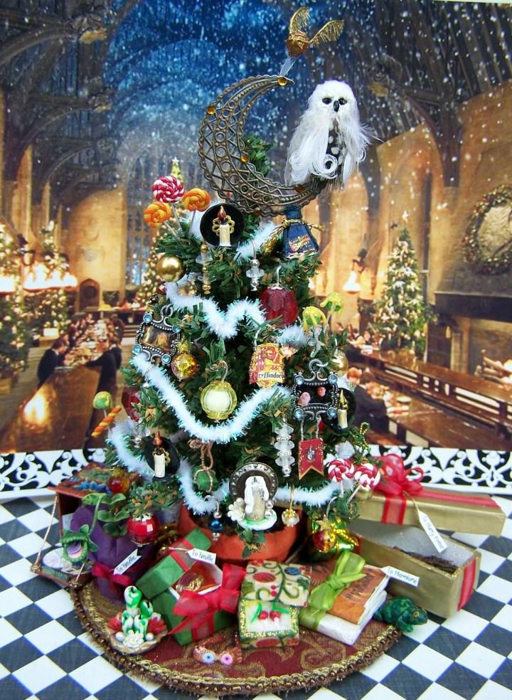 Harry Potter BlogHogwarts Navidad Arbol Ornamento (28)