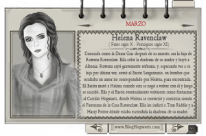 Mago mes marzo Helena Ravenclaw