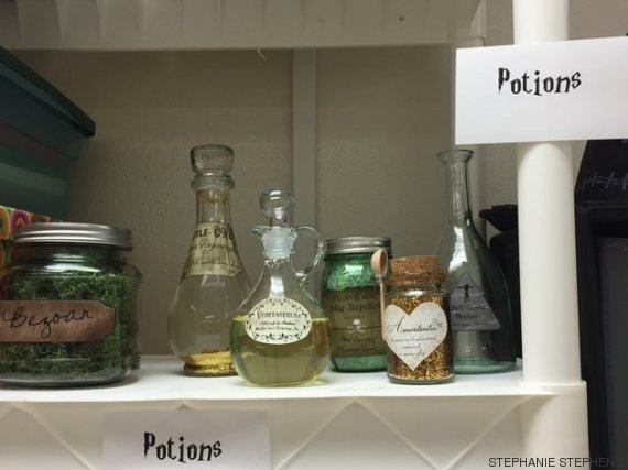 Harry Potter BlogHogwarts Salon Clases Decorado (3)