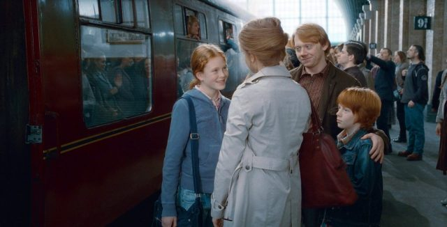 Hermione, Ron, Hugo, Rose