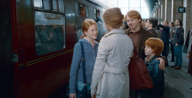 Hermione, Ron, Hugo, Rose