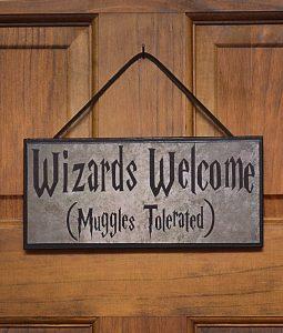 letrero entrada casa potter