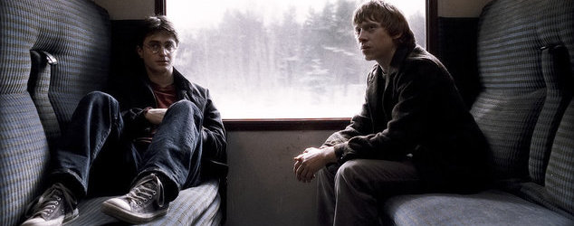 """HP6-VFX-00142 DANIEL RADCLIFFE as Harry Potter and RUPERT GRINT as Ron Weasley in Warner Bros. PicturesÕ fantasy adventure ÒHarry Potter and the Half-Blood Prince."""""""