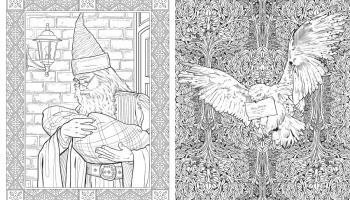 Primeras Páginas Del Libro De Colorear Harry Potter Criaturas