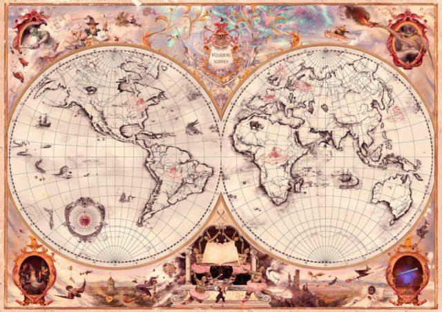 Mapa de Colegios de Magia