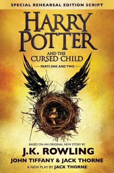 Mira la portada oficial de Harry Potter and the Cursed Child