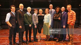 Fotografías de J.K. Rowling con el elenco de Harry Potter and the Cursed Child