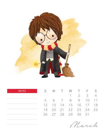 Descarga gratis este hermoso calendario de Harry Potter 2017