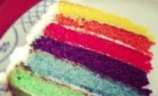 A Slice of Rainbow Cake