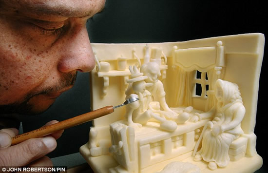 As impressionantes esculturas na manteiga