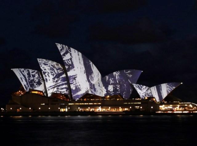 Vivid Sydney: projeções luminosas na Opera House