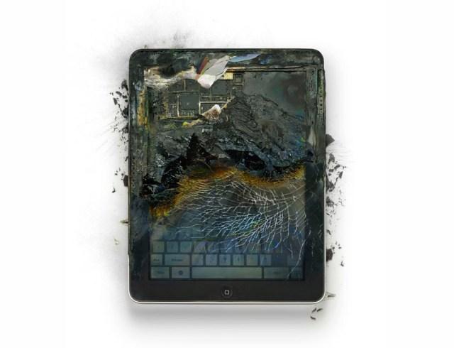 Destruindo produtos da Apple em nome da arte
