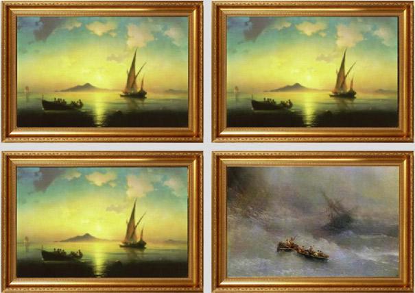 Pinturas famosas antes e depois