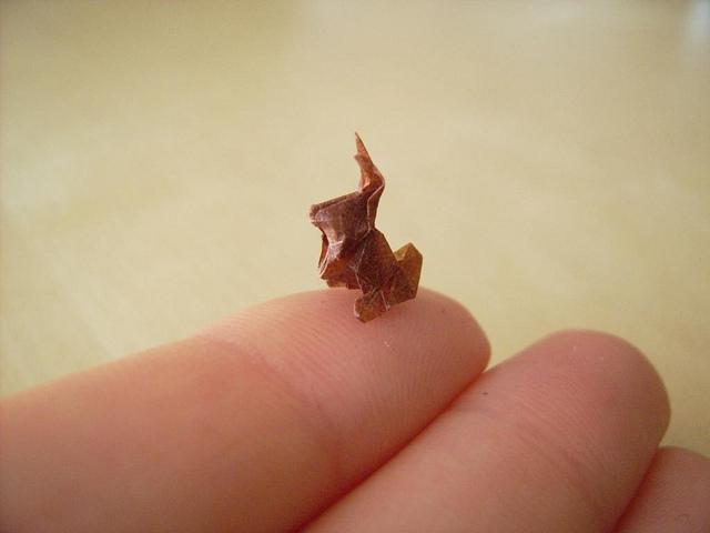 Os menores origamis do mundo