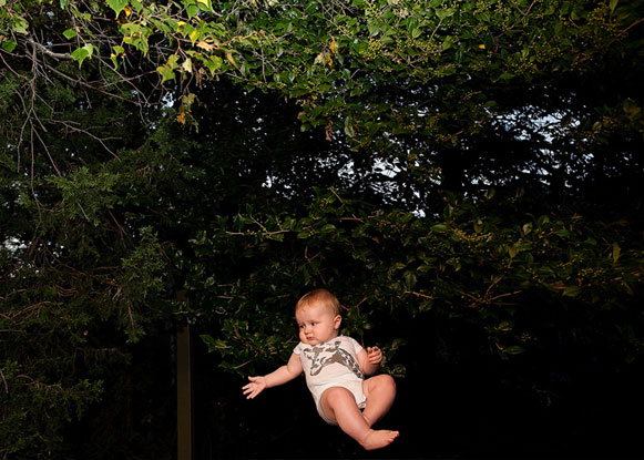 Projeto fotográfico: Bebês voadores