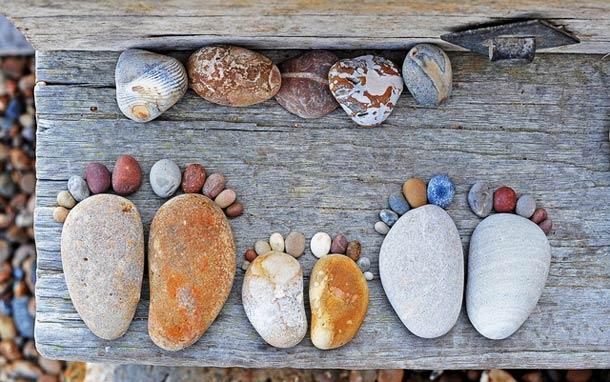Projeto fotográfico: Stone Footprints