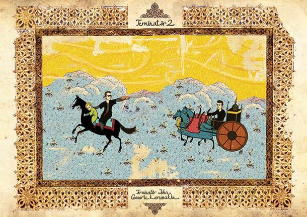 Clássicos do cinema em versão de pinturas orientais