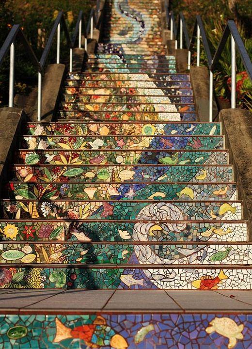 As belas escadarias da cidade de São Francisco
