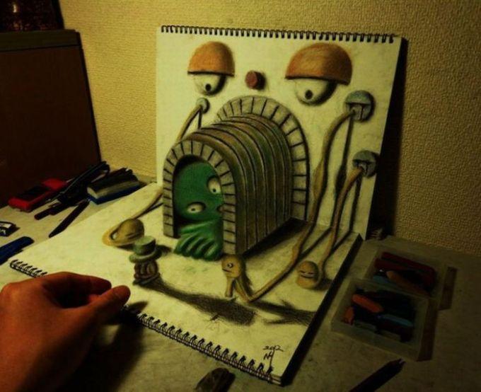 As impressionantes ilustrações 3D de Nagai Hideyuki