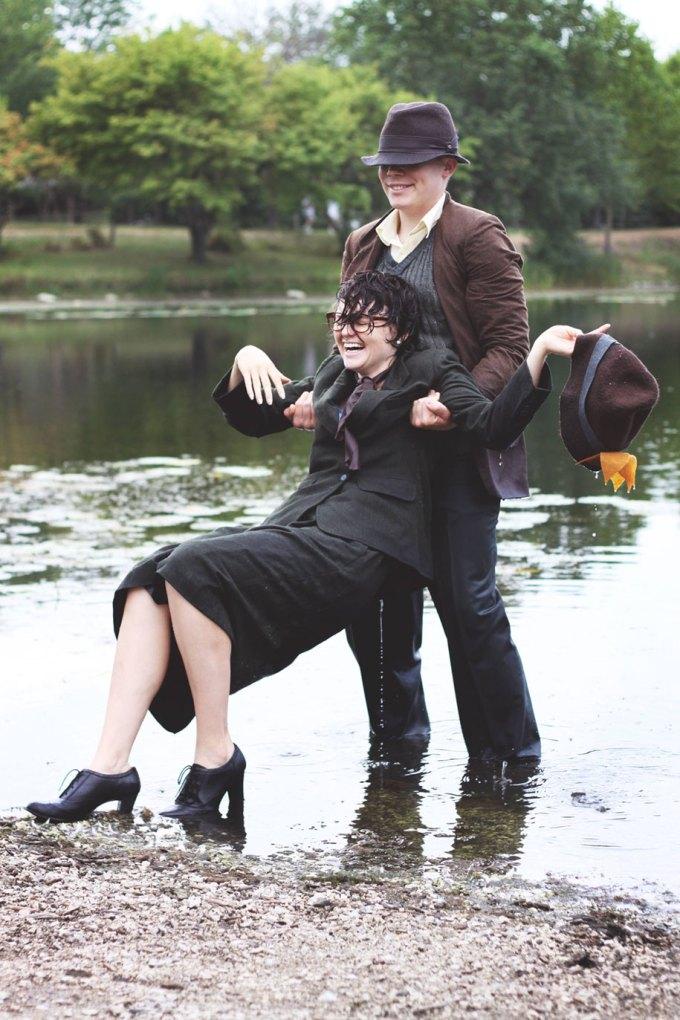 Casal recria cenas de 101 Dálmatas para seu álbum de noivado