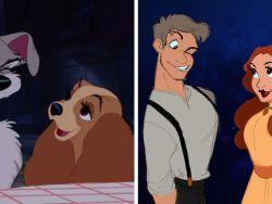 Artista faz desenhos fantásticos recriando animais da Disney como humanos