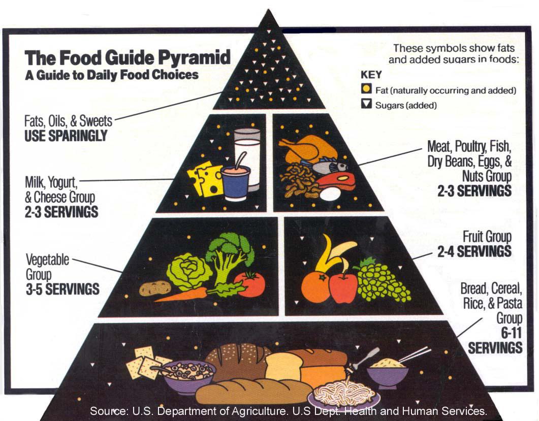old food pyramid usda