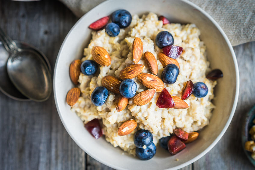 36130988 - oatmeal with berries and nuts