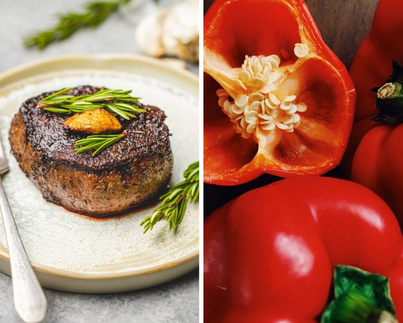 steak and red bell pepper food pairing maximize nutrition