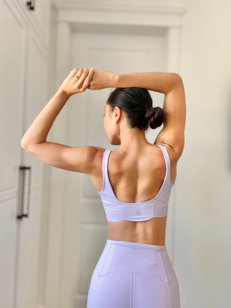 cassey ho blogilates purple workout outfit