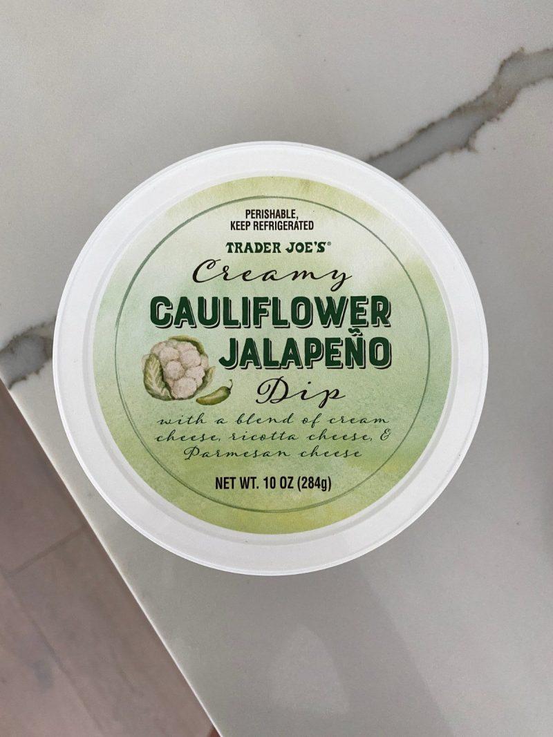 trader joes blogilates review cauliflower jalapeno dip