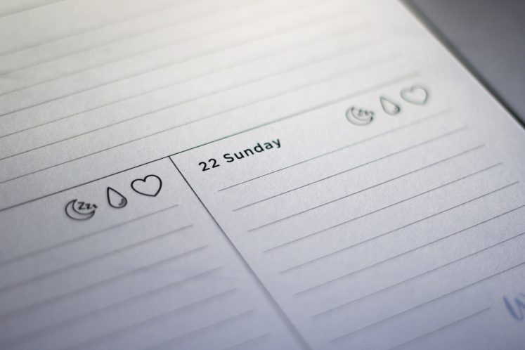 weekly planner workout rest day