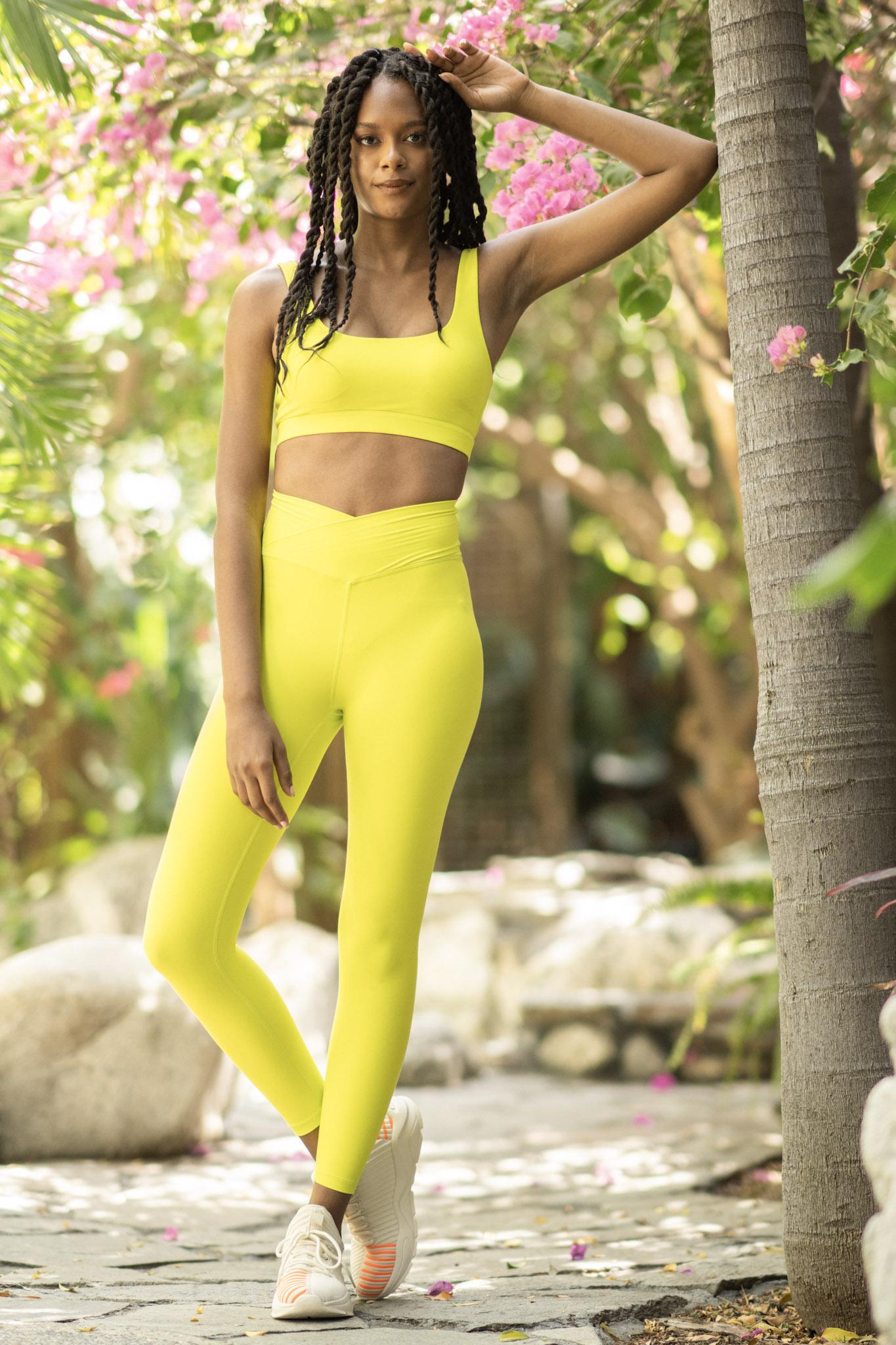 popflex tropicana collection hourglass legging lime
