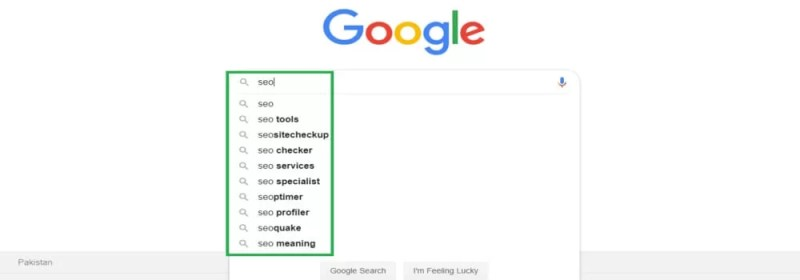 Google search bar for Keyword