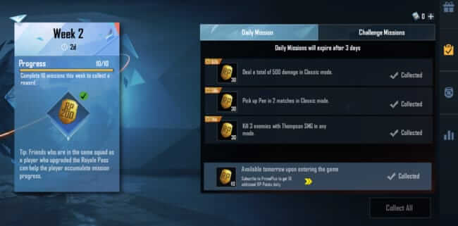 Complete Daily Missions