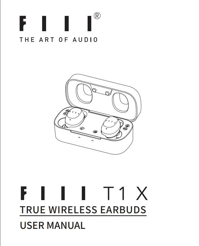 FIIL T1X Bluetooth 5.0 Qualcomm QCC3020 TWS Earphones User